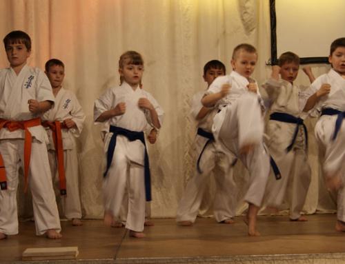 Karate Vorführung von Kleinste 'Dankezu'